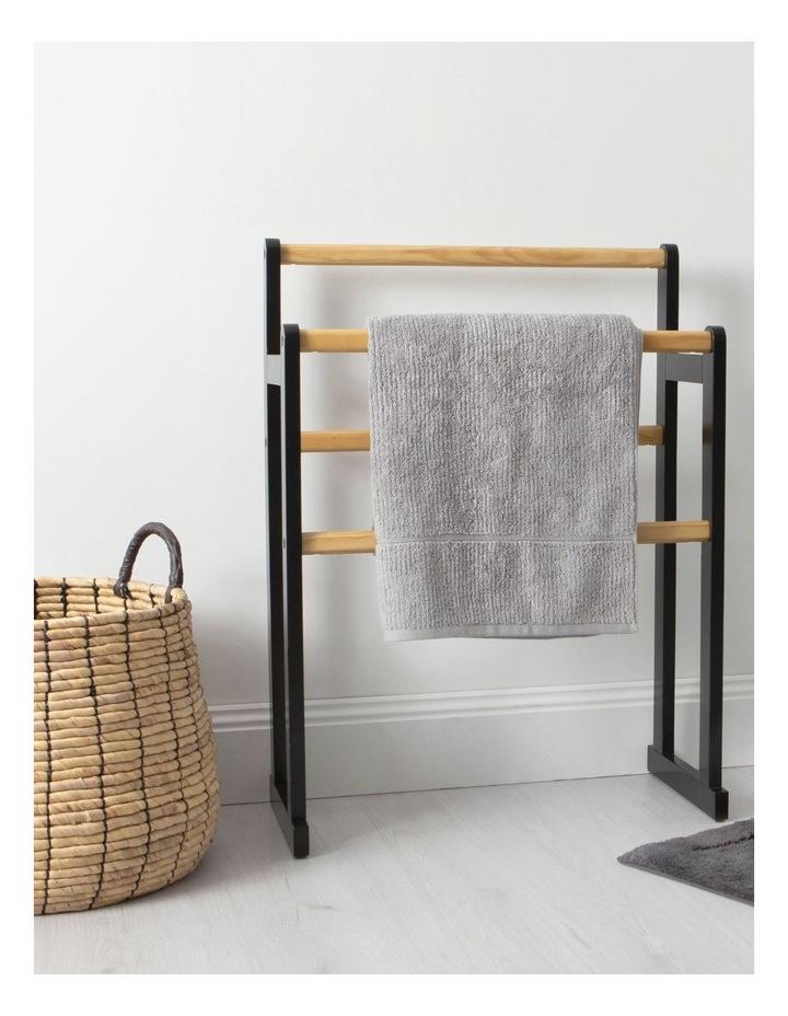 Arlington Towel Rack in Black image 3