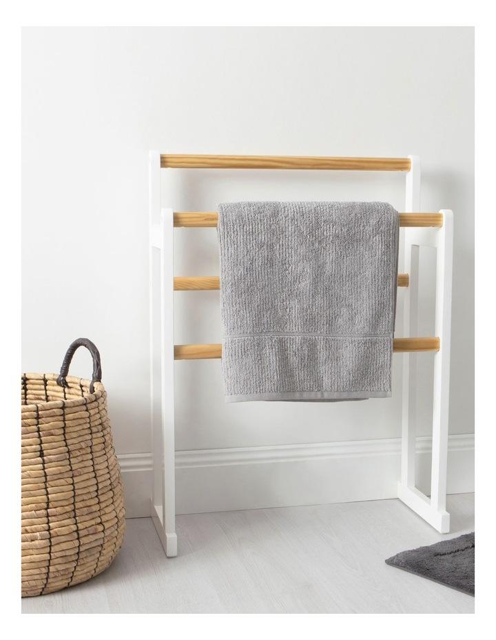 Arlington Towel Rack in White image 3