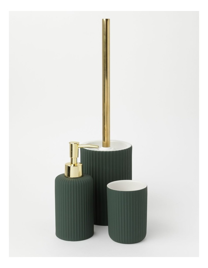 Ribbed Ivy Green Bathroom Accessories Range in Green image 1