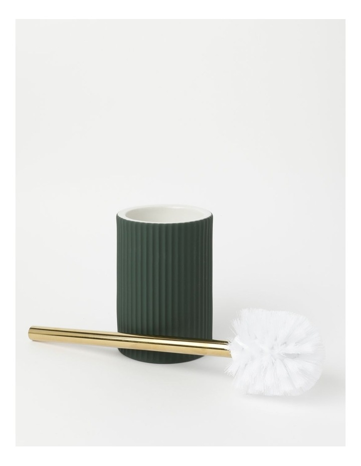 Ribbed Ivy Green Bathroom Accessories Range in Green image 5