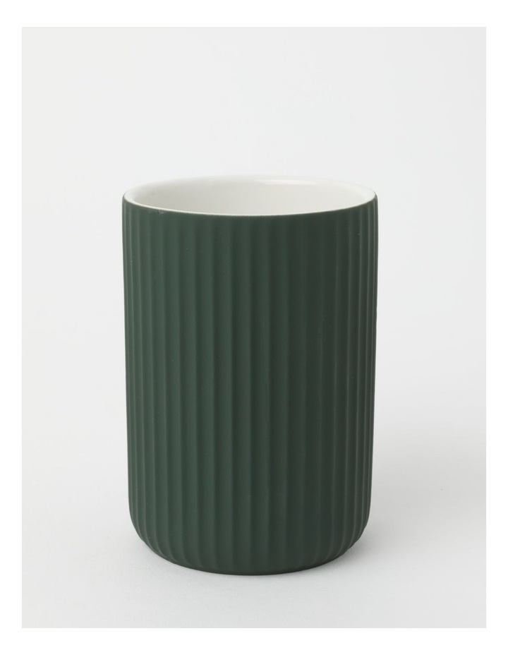 Ribbed Ivy Green Bathroom Accessories Range in Green image 6