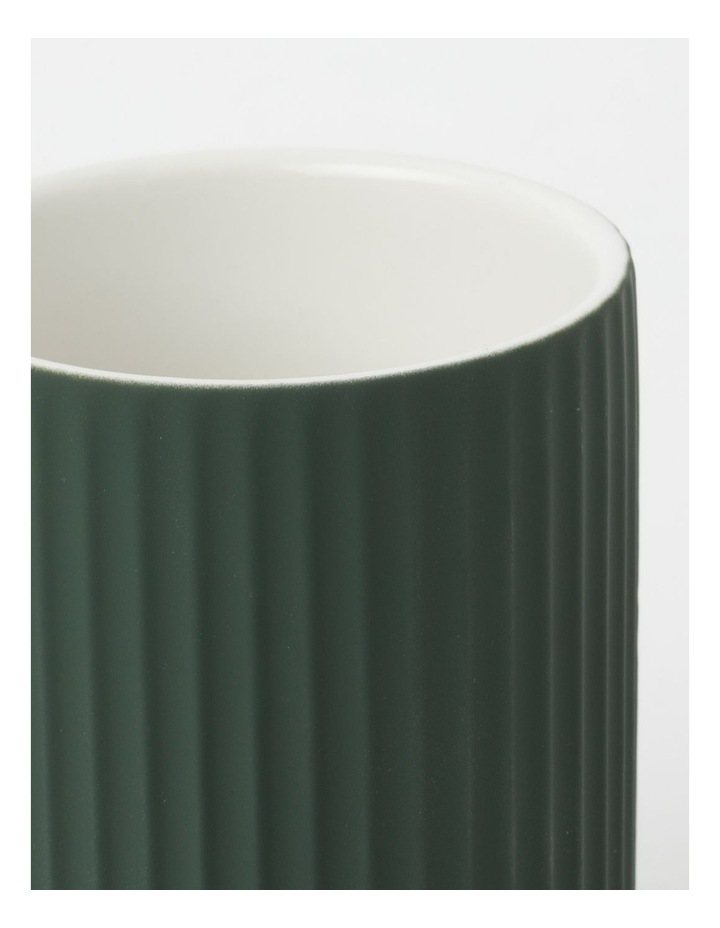 Ribbed Ivy Green Bathroom Accessories Range in Green image 7