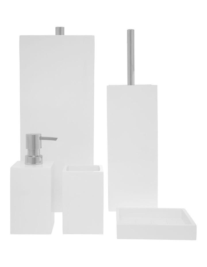 Lotus Bathroom Accessories in White image 1