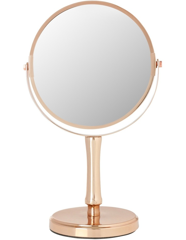 Makeup Mirror.Vue Steel Cosmetic Mirror In Rose Gold
