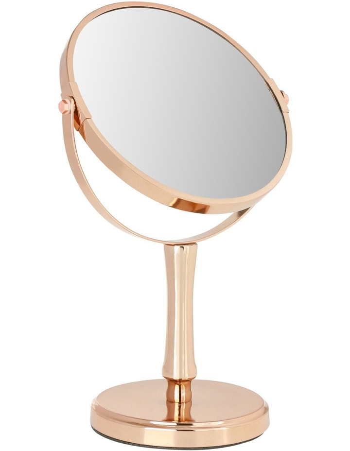 Steel Cosmetic Mirror in Rose Gold image 2