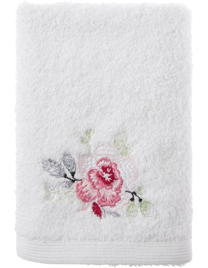 Roses Hand Towel in White image 1