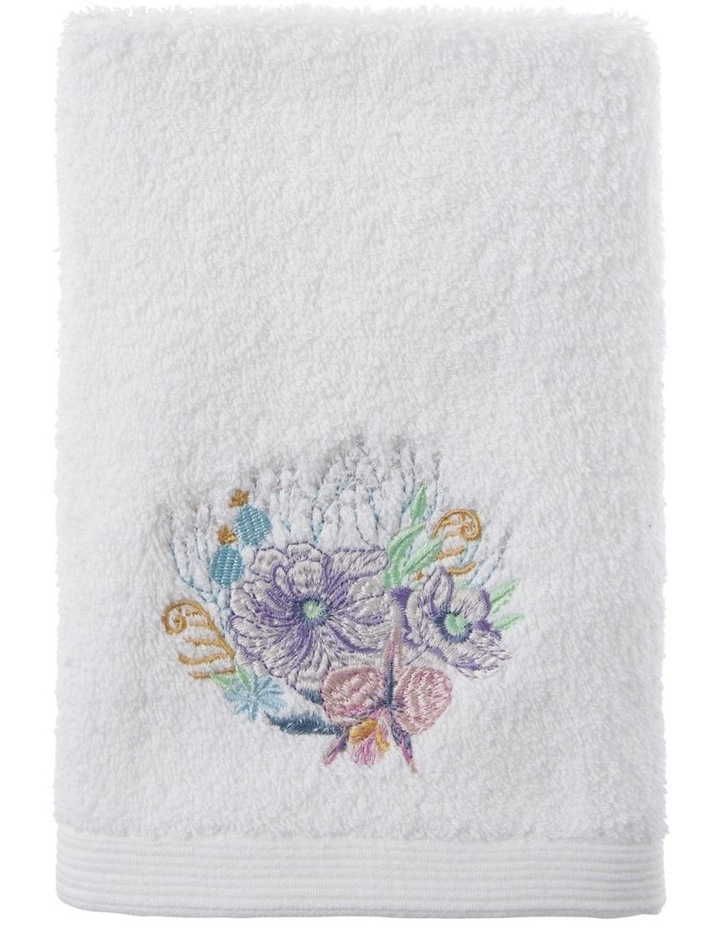 Fresia Hand Towel 1 Pack in White image 1