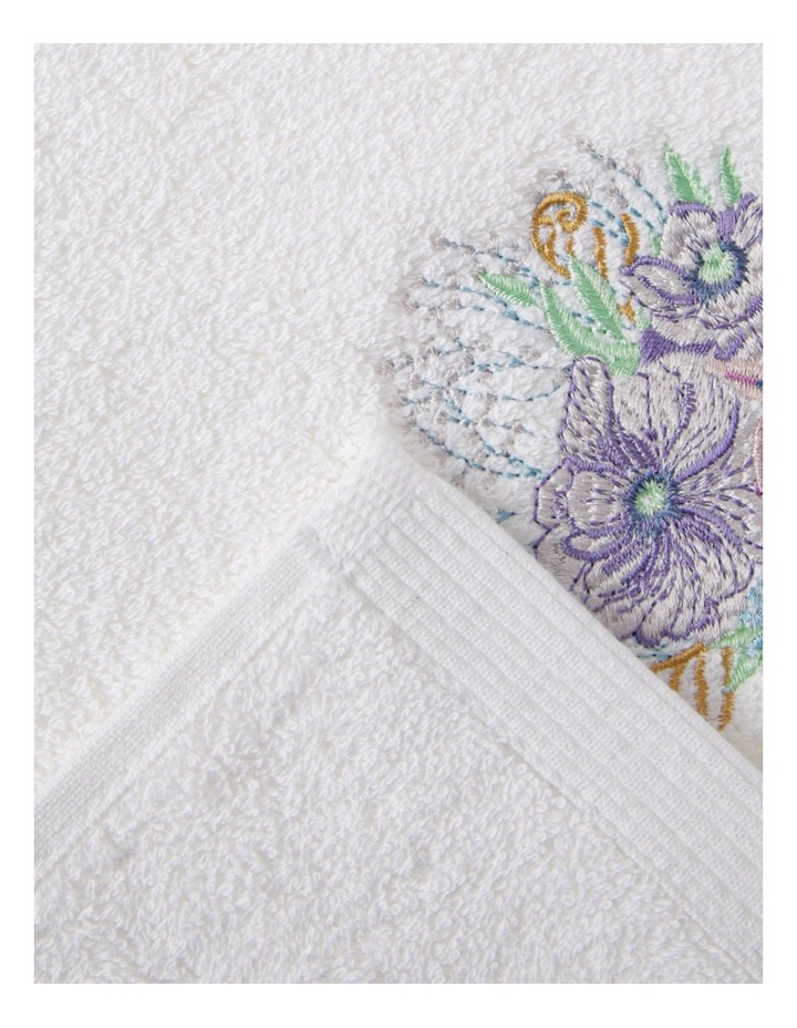 Fresia Hand Towel 1 Pack in White image 2