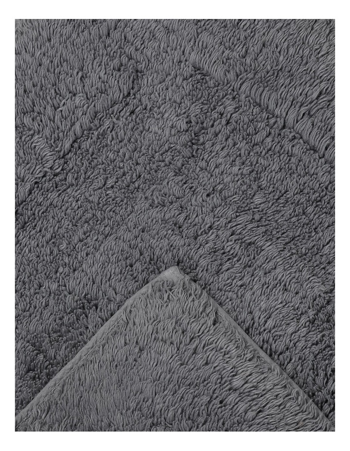 Canterbury Bath Mat in Grey image 2