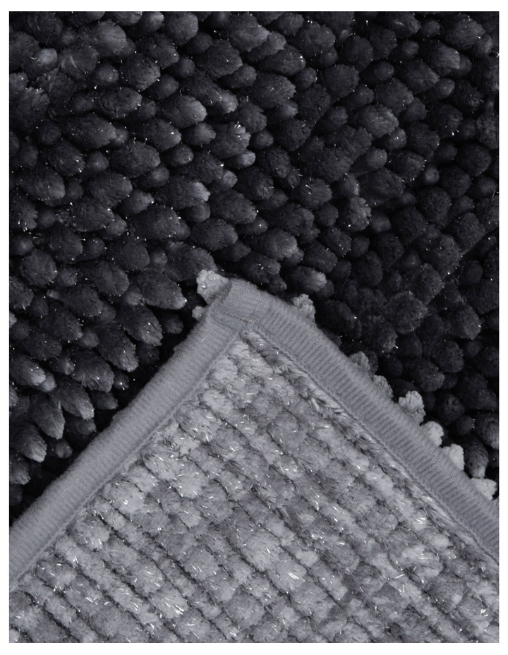 Abozzo Tufted Bath Mat in Charcoal image 2