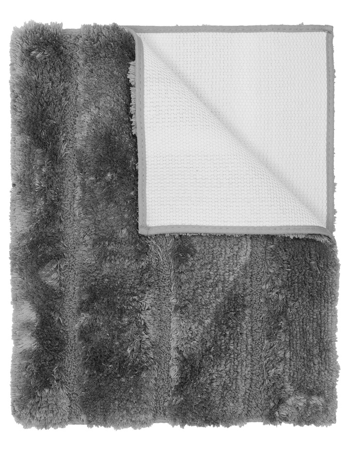 Disegno Tufted Bath Mat: Charcoal image 1