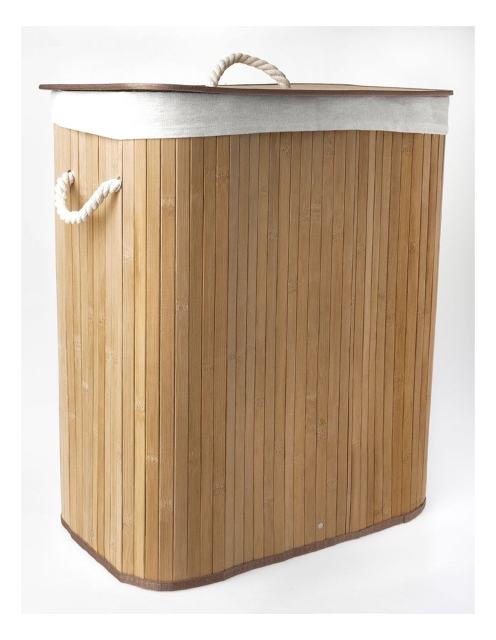 Alad Bamboo Laundry Hamper in Natural image 2