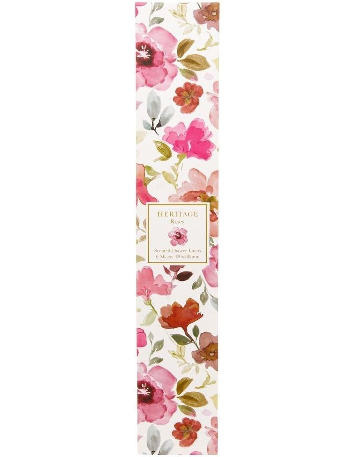 Roses Drawer Liner 6 sheets in Pink image 1