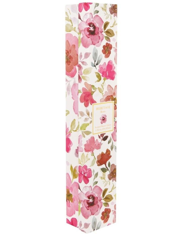 Roses Drawer Liner 6 sheets in Pink image 2