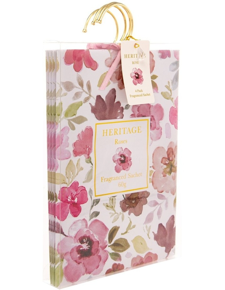 Roses Hanging Sachet 4 pack in White image 2