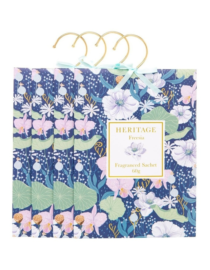 Fresia Hanging Sachet 4 pack in Blue image 3