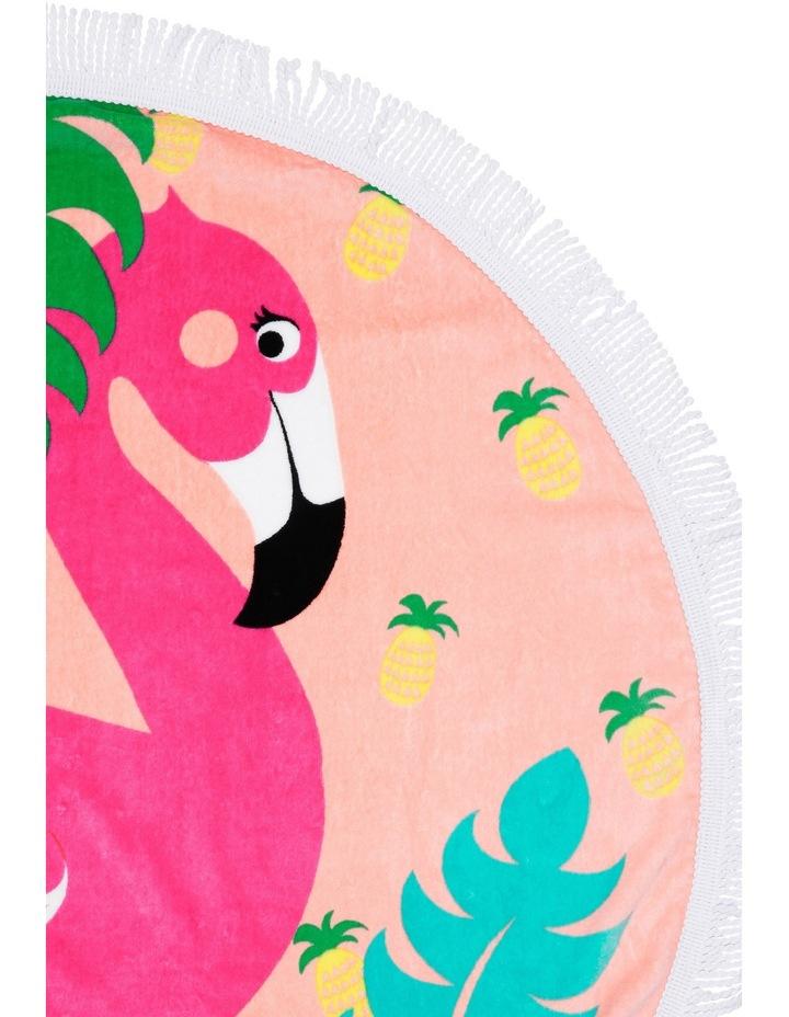 Round Beach Towel in Flamenco Pink image 2