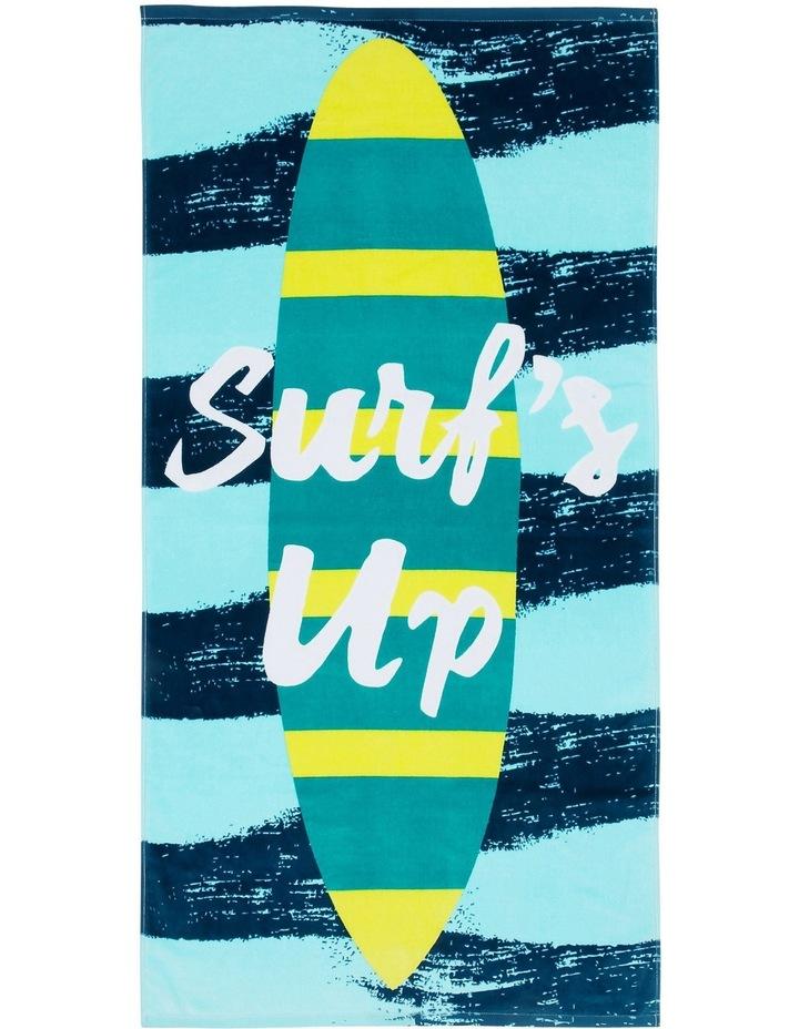 Beach Towel in Pipeline Blue image 1