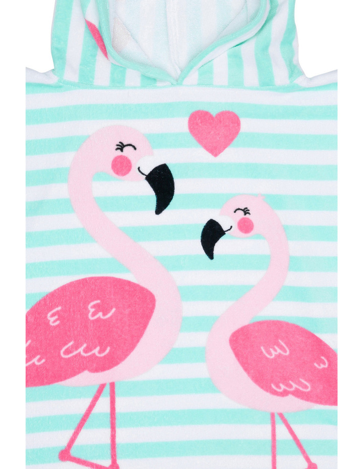 Poncho in Flamingo Aqua image 3