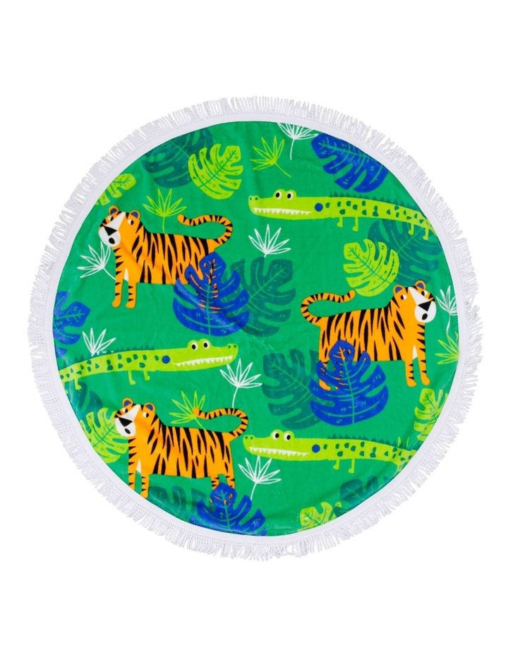 Jungle Tales Round Beach Towel image 1