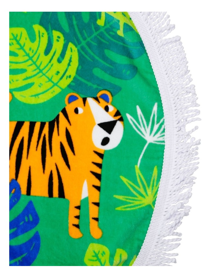Jungle Tales Round Beach Towel image 2