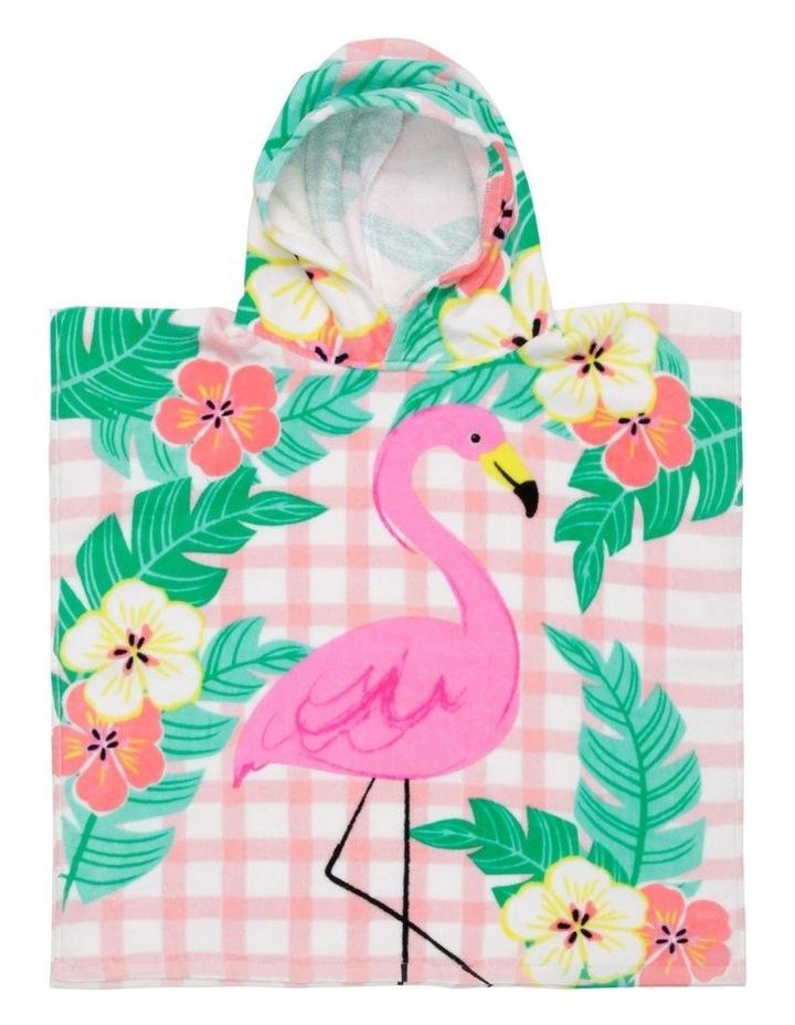 Flamingo Picnic Beach Poncho image 1