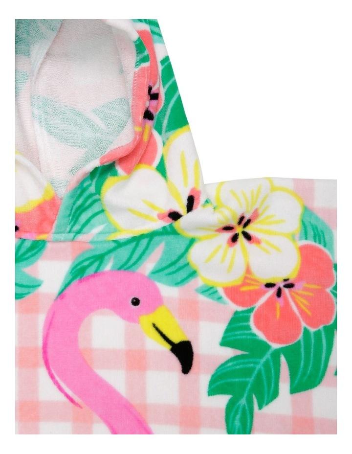 Flamingo Picnic Beach Poncho image 2