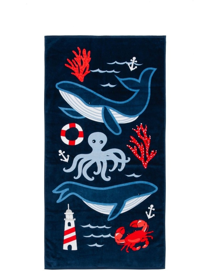 Whale of a Time Beach Towel image 1
