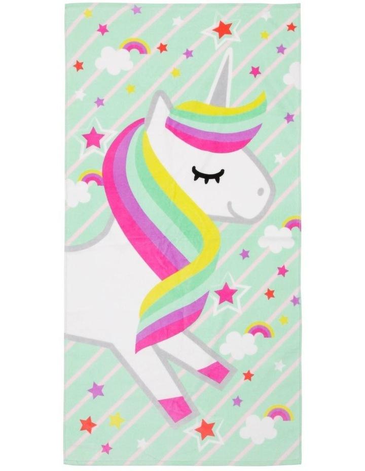 Starburt Unicorn Beach Towel image 1