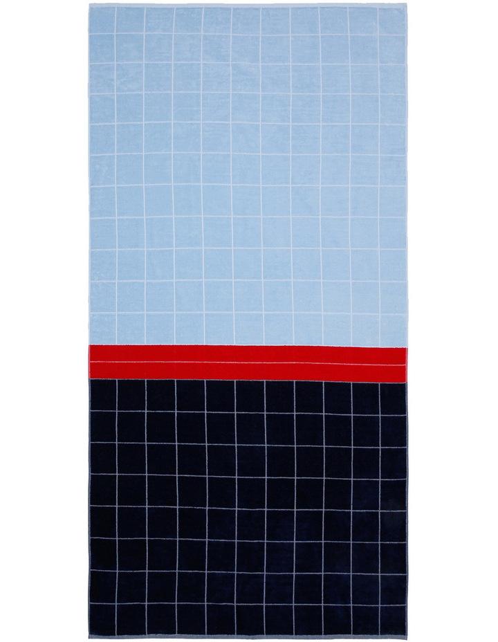 Peninsula Panel Beach Towel in Pinarello Blue image 1