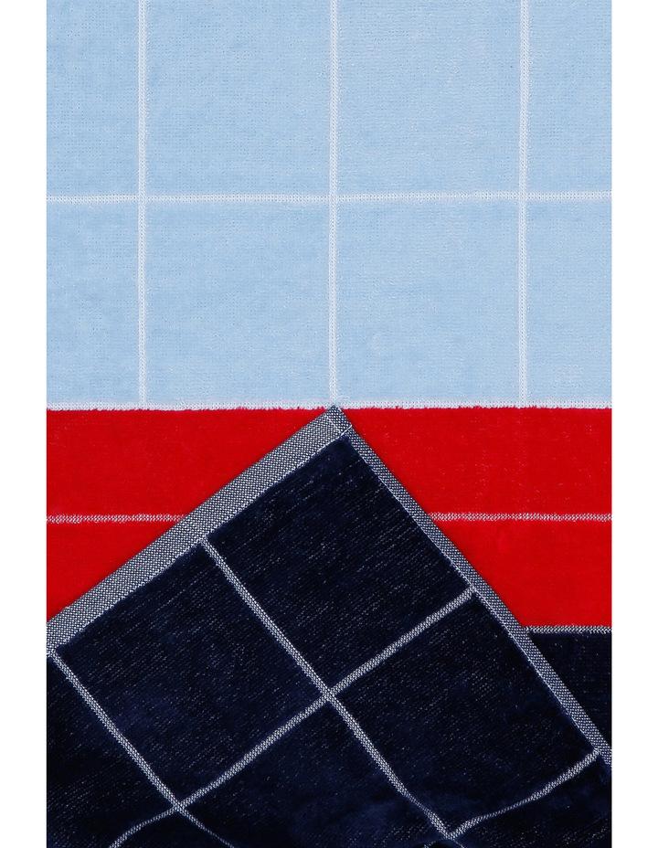 Peninsula Panel Beach Towel in Pinarello Blue image 2
