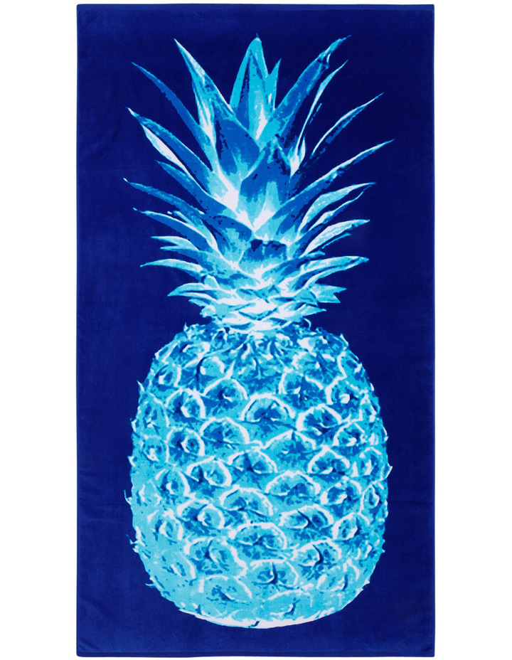 Harbour Nissi Pinapple Beach Towel in Blue image 1
