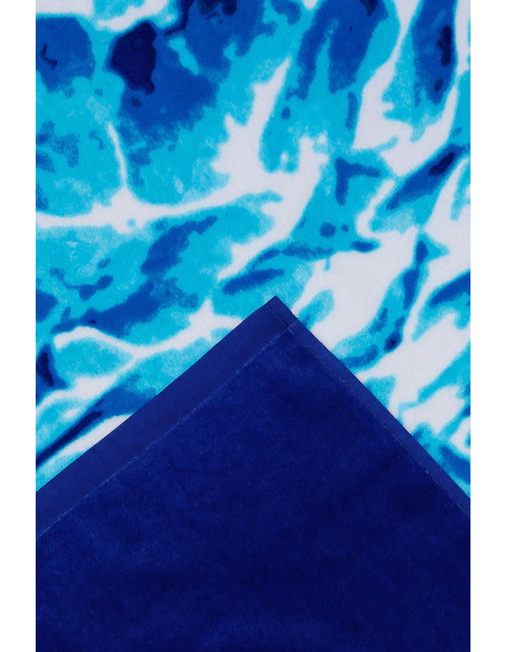 Harbour Nissi Pinapple Beach Towel in Blue image 2