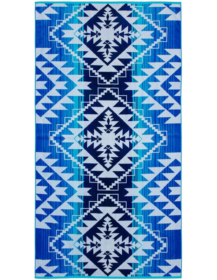 Peninsula Beach Towel in San Andres Blue image 1