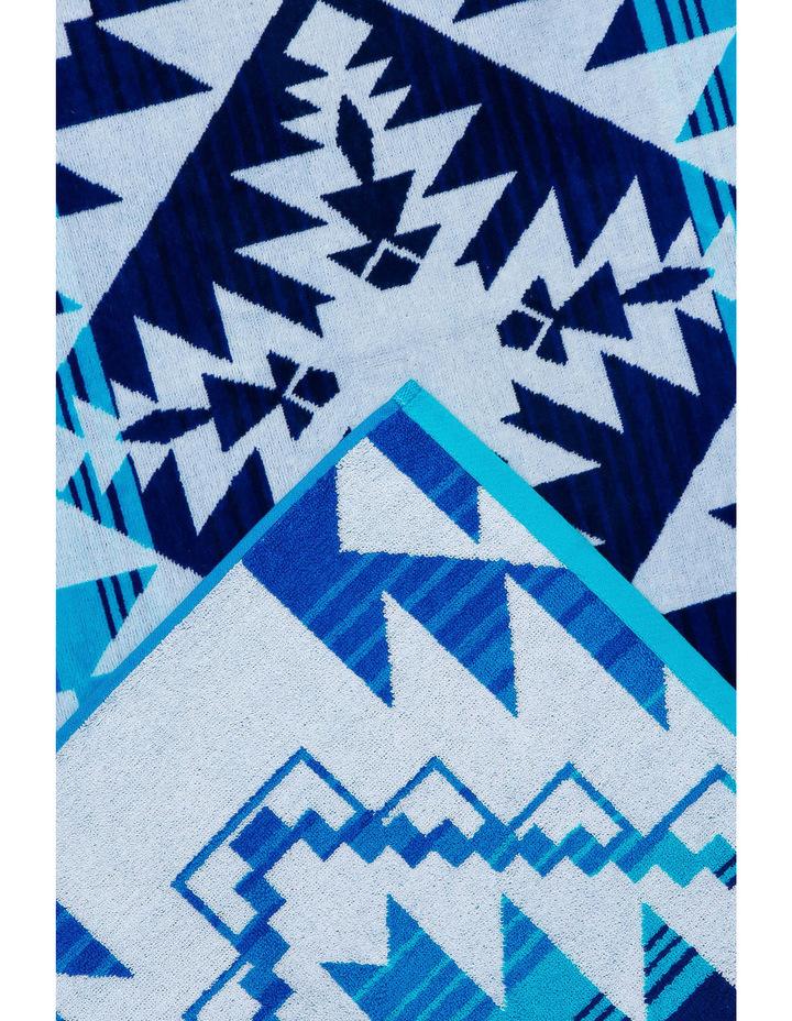 Peninsula Beach Towel in San Andres Blue image 2