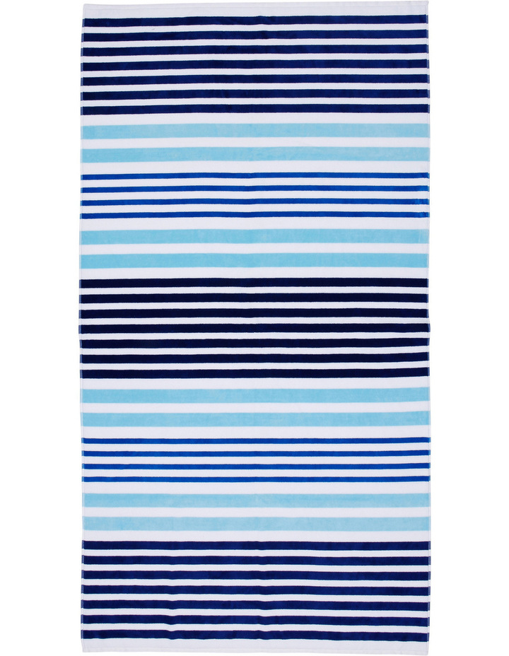 Lake Eyre Beach Towel: Dundee Blue / Yellow image 1