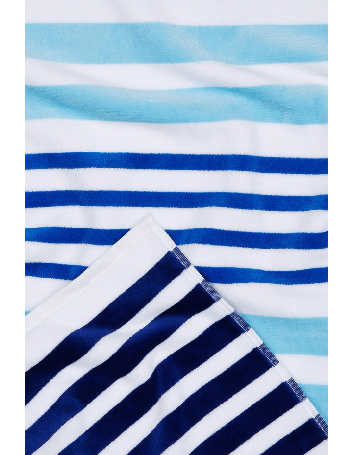 Lake Eyre Beach Towel: Dundee Blue / Yellow image 2