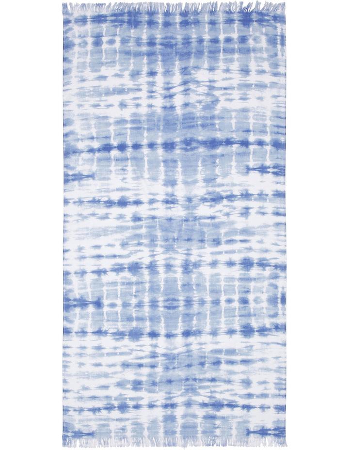 Lake Eyre Beach Towel in Bribie Shibori Blue image 1