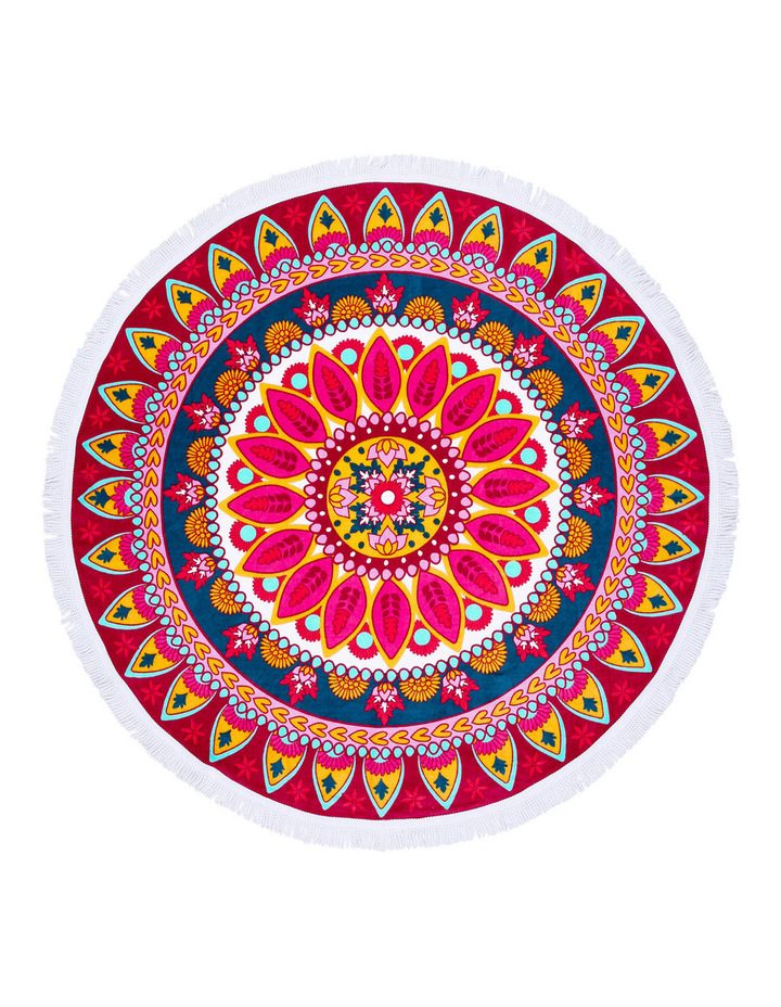 Round Beach Towel: Sipura Red image 1