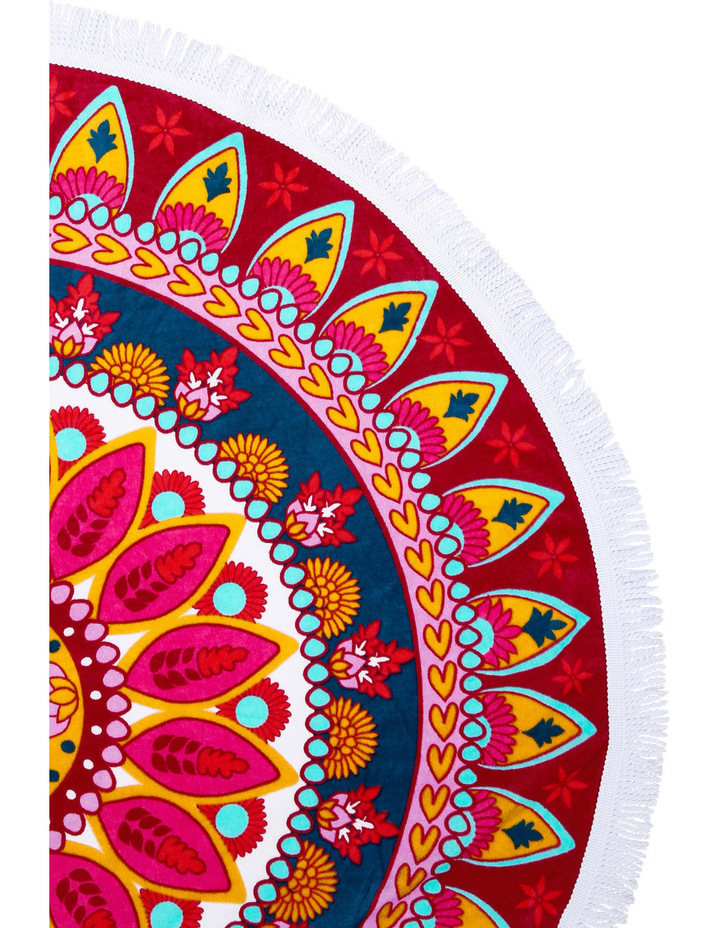 Round Beach Towel: Sipura Red image 2