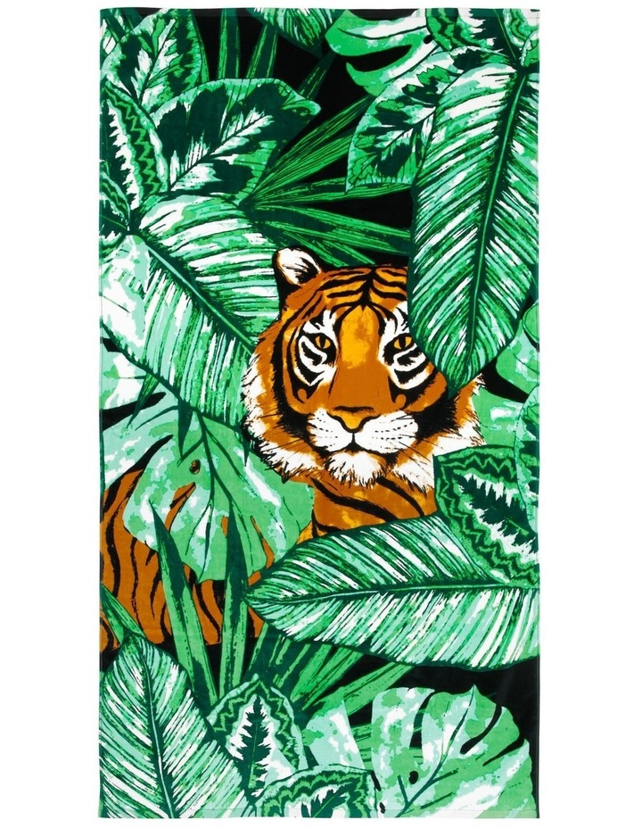 Harbour Colombia Tiger Face Beach Towel image 1