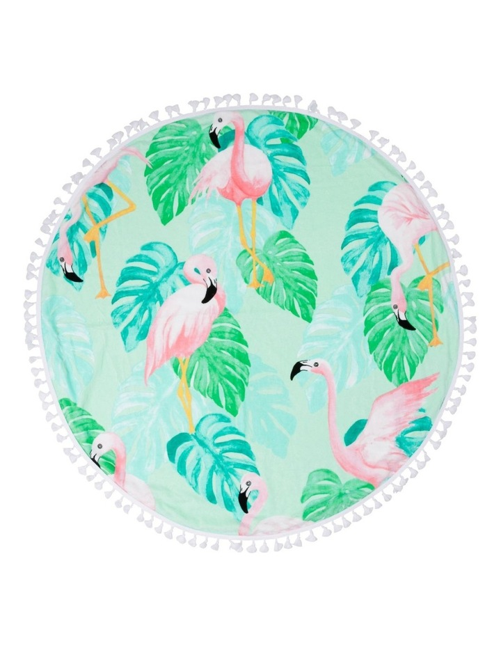 Phuket Round Flamingo Beach Towel image 1