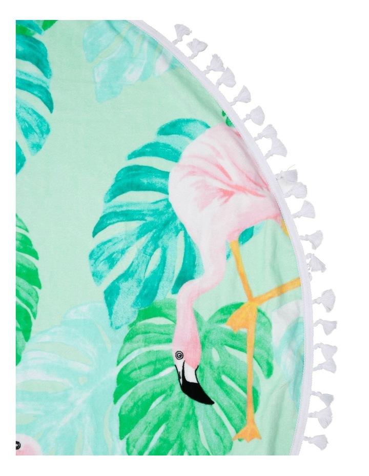 Phuket Round Flamingo Beach Towel image 2