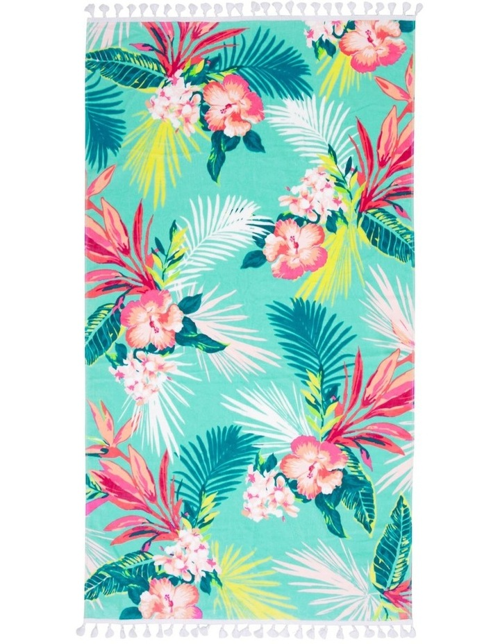 Hampton Diascia Floral Beach Towel image 1