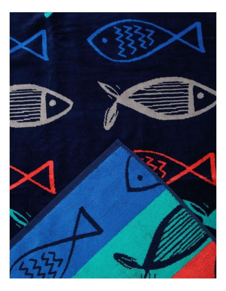 Hampton Praiano Fish Beach Towel image 2