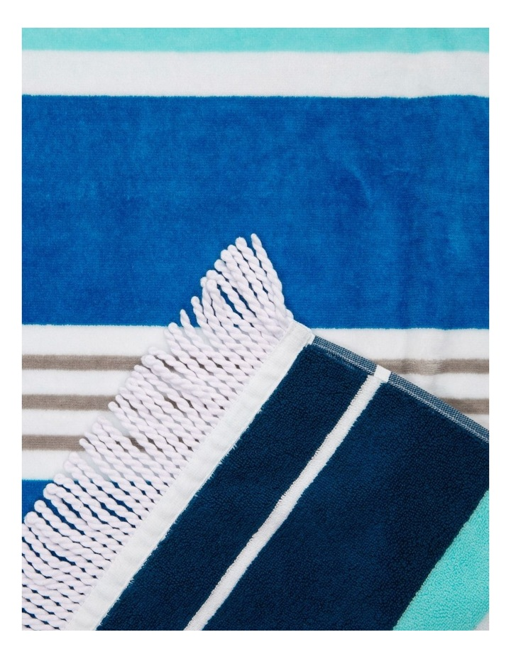 Santorini Duoglio Stripe Beach Towel in Blue image 2