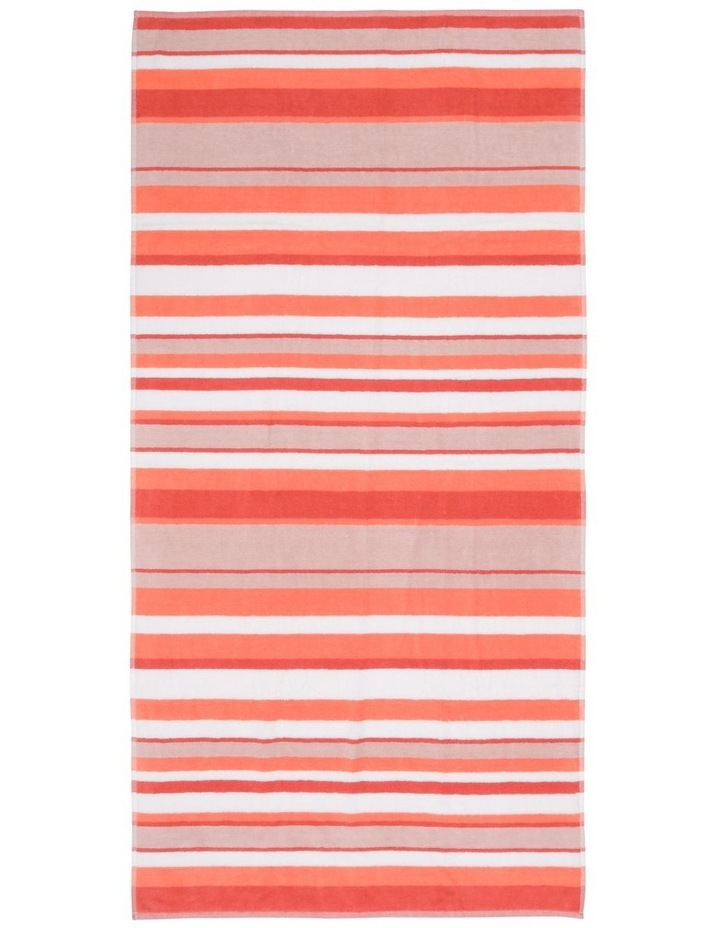 Santos Stripe Beach Towel in Ocean image 1