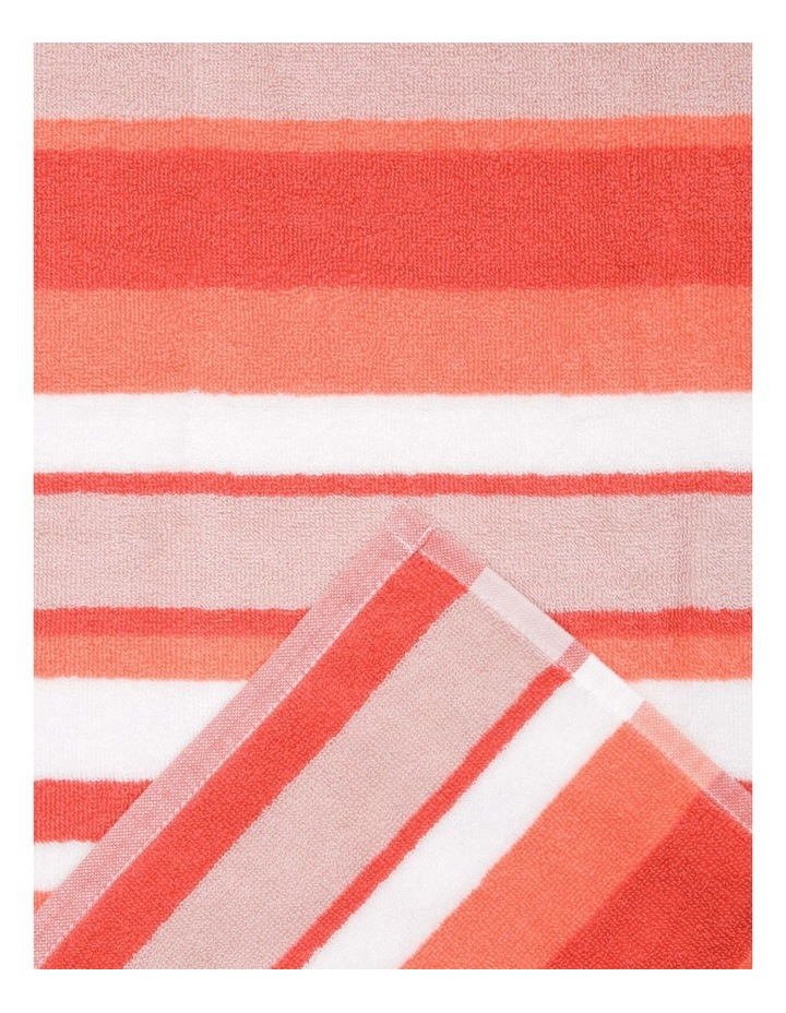 Santos Stripe Beach Towel in Ocean image 2