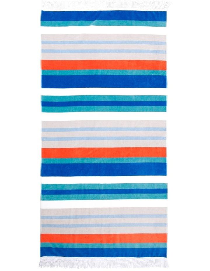 Rosedale Stripe Beach Towel in Multi image 1