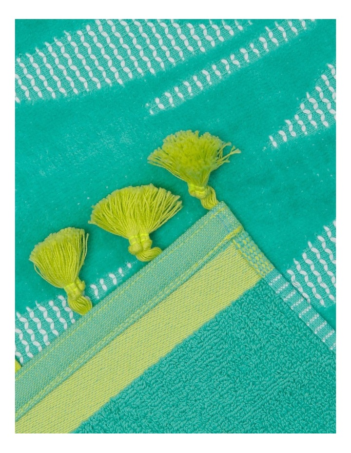 Coastal Jungle Leaf Beach Towel image 2
